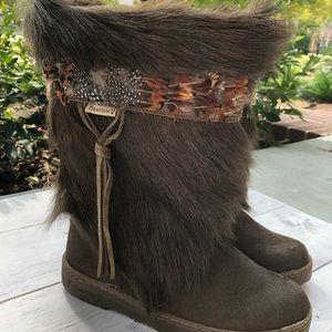 BearPaw Koala Feather Tall Boots